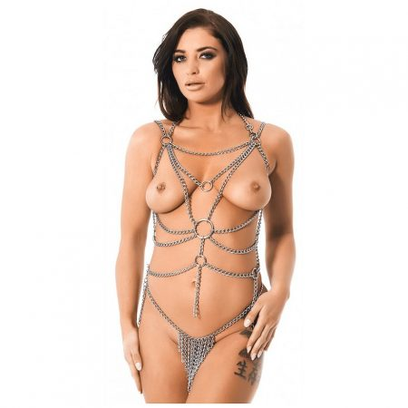 Rimba 7088 Chain Waterfall Top and Brief Set