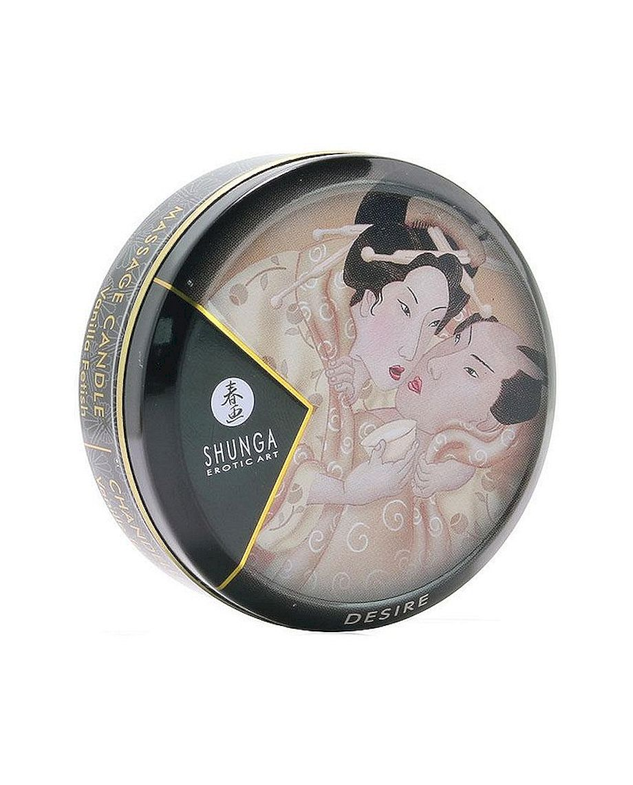 Desire Mini Massage Candle of Shunga in Vanilla Fetish 1oz 30ml