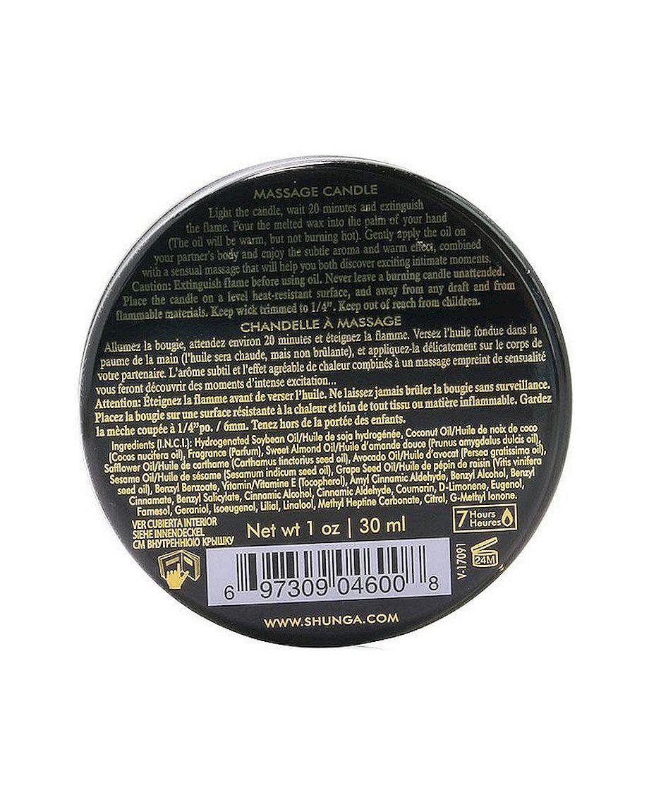 Excitation Mini Massage Candle of Shunga in Intoxicating Chocolate 1oz 30ml