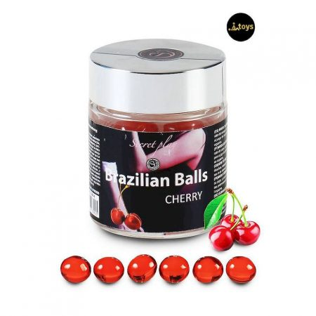 Secret Play 6 Cherry Brazilian Balls Jar