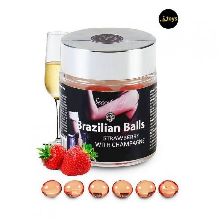 6 Strawberry with Champagne Brazilian Balls Jar