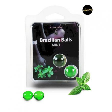 Secret Play Set 2 Brazilian Balls Mint Aroma