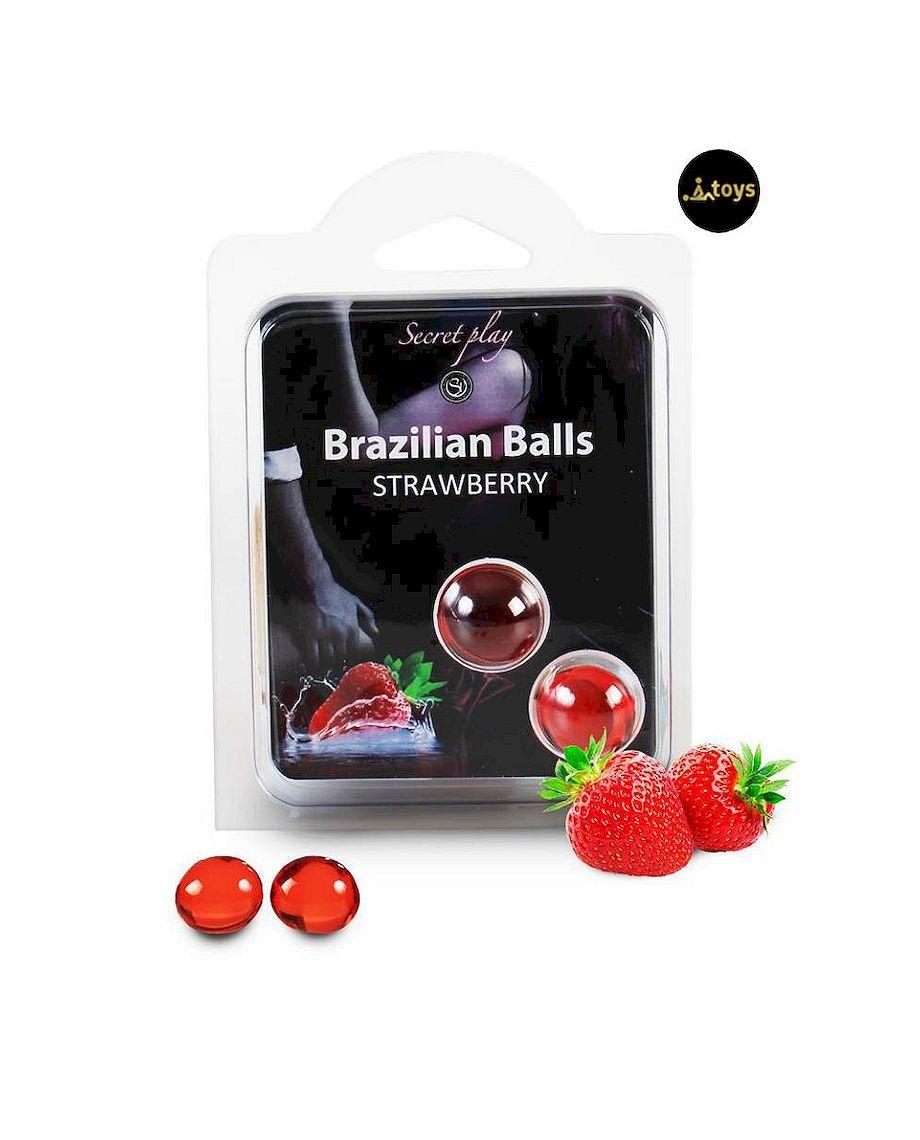 Secret Play Set 2 Brazilian Balls Strawberry Aroma