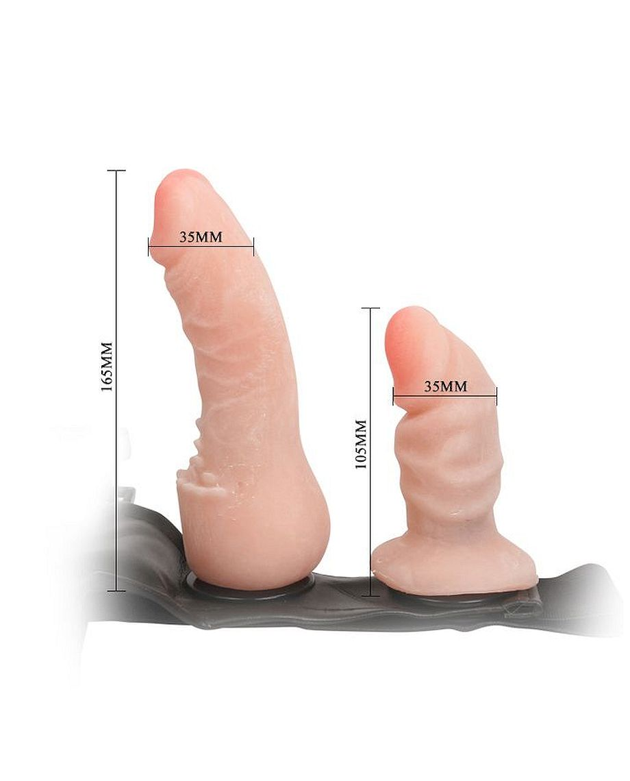 Baile Double Penetration Strap-On in Flesh