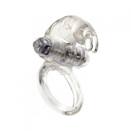 Linx Classic Rabbit Cock Ring with Clit Stim, Clear