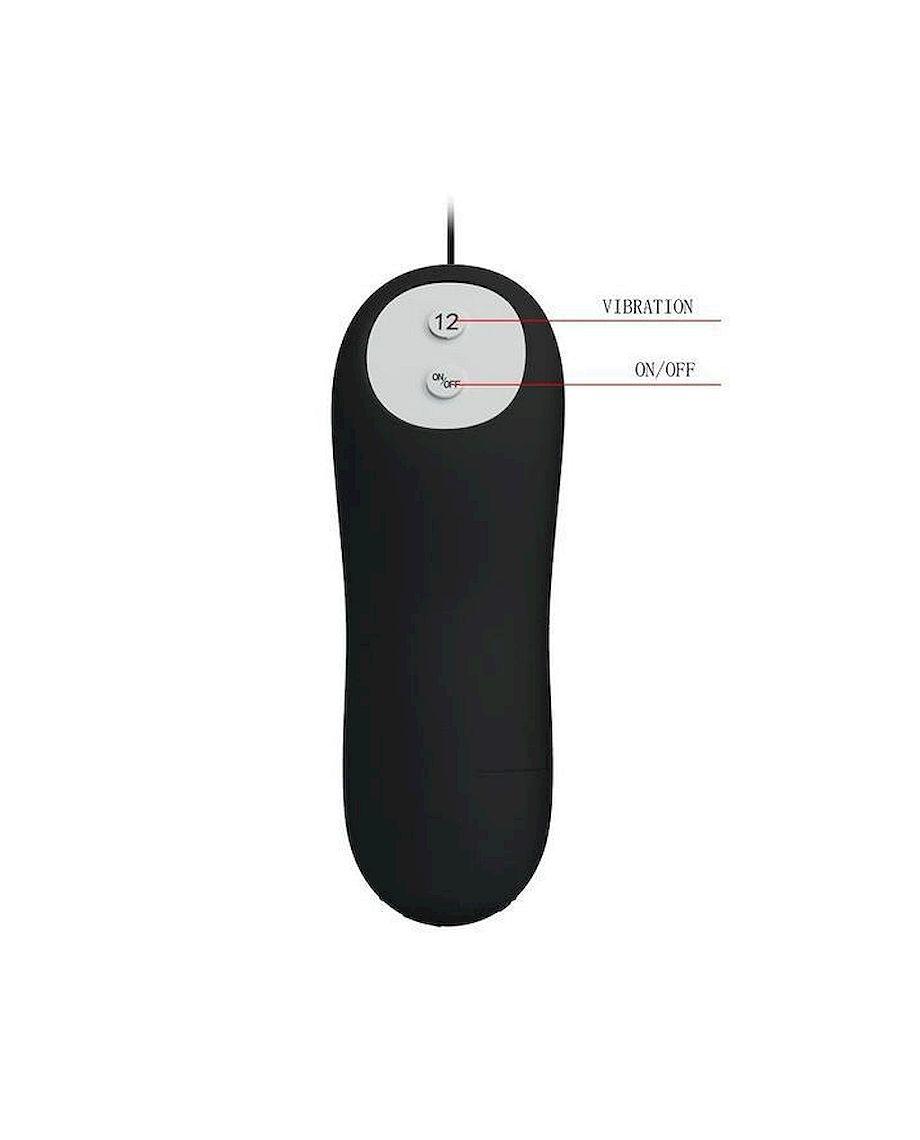 Pretty Love Remote Control Butt Plug in Black