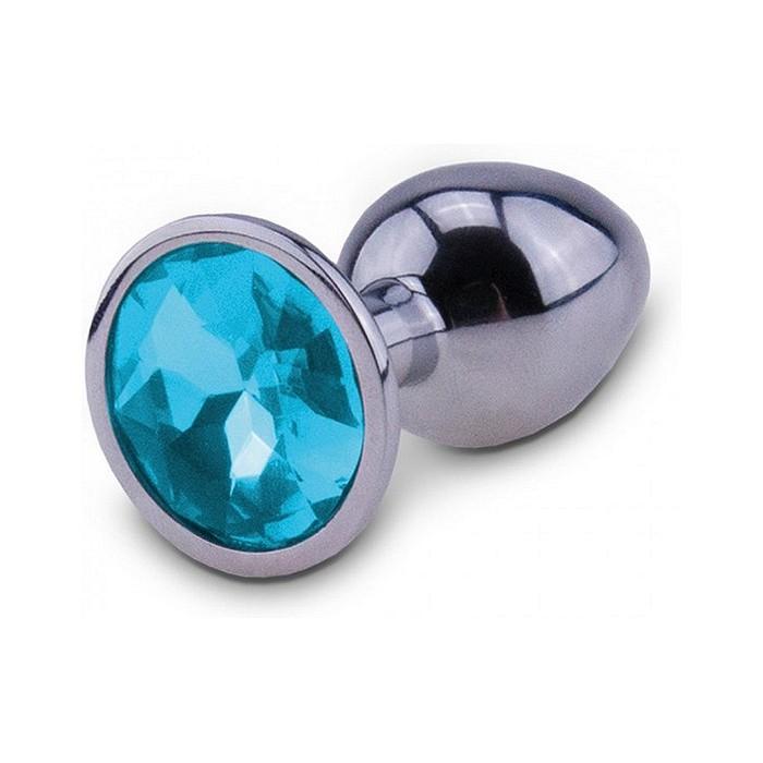 Silver Starter Unisex Butt Plug in Blue Medium by RelaXxxx