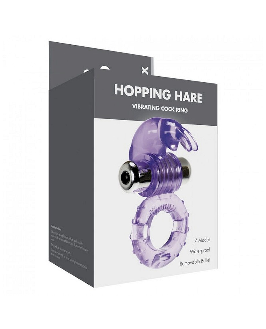 Linx Hopping Hare Vibrating Cock Ring in Purple