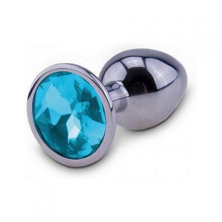 RelaXxxx Silver Starter Butt Plug Blue Medium