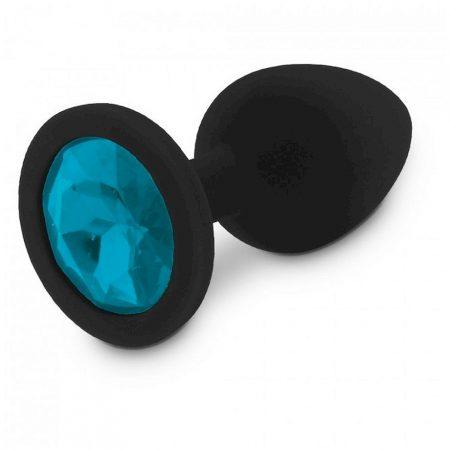 RelaXxxx Silicone Diamont Plug Black/Blue M