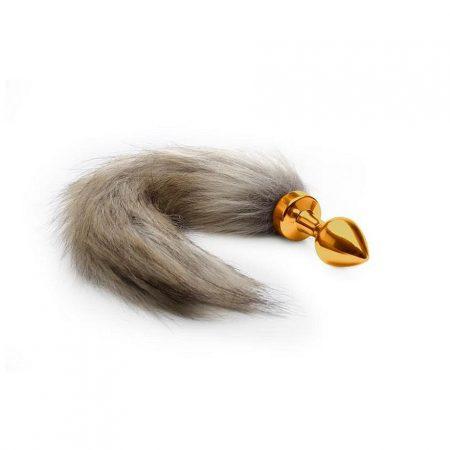 Fox Tail Butt Plug Metal Gold