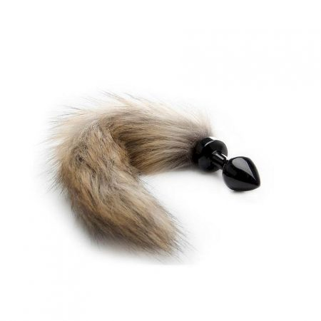 Shots Ouch Fox Tail Buttplug Bulk Black