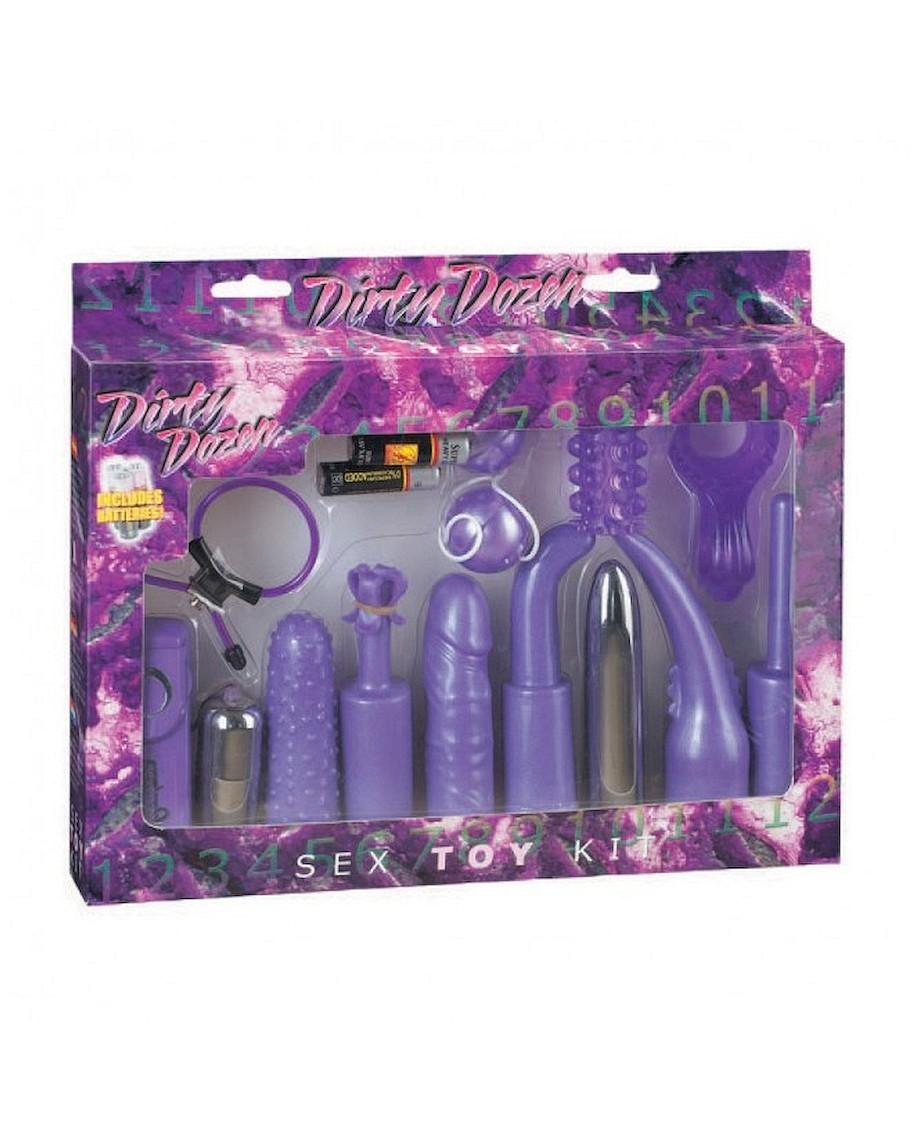 Seven Creations Dirty Dozen Sex Toy Kit Purple