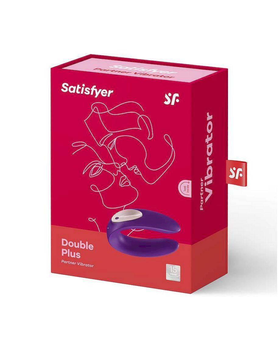 Partner Plus Couples U-Shaped Vibrator Purple
