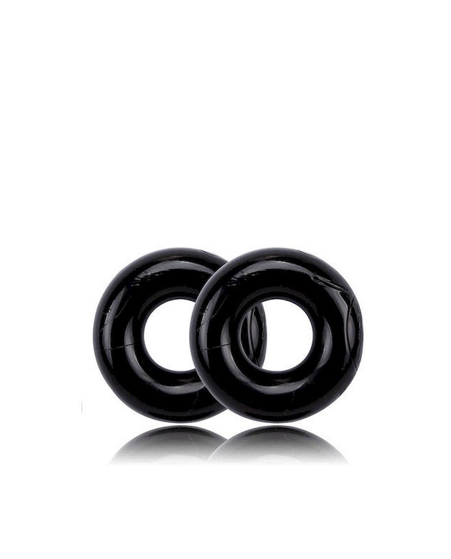 Chisa Get Lock Donut Rings Over Sized Black