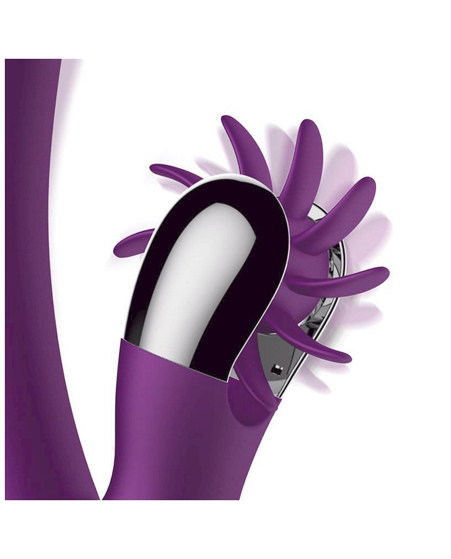 Action No Two Finger Vibrator with Rotating Wheel