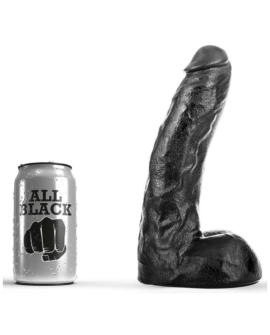 All Black Dong 22cm Huge Dildo