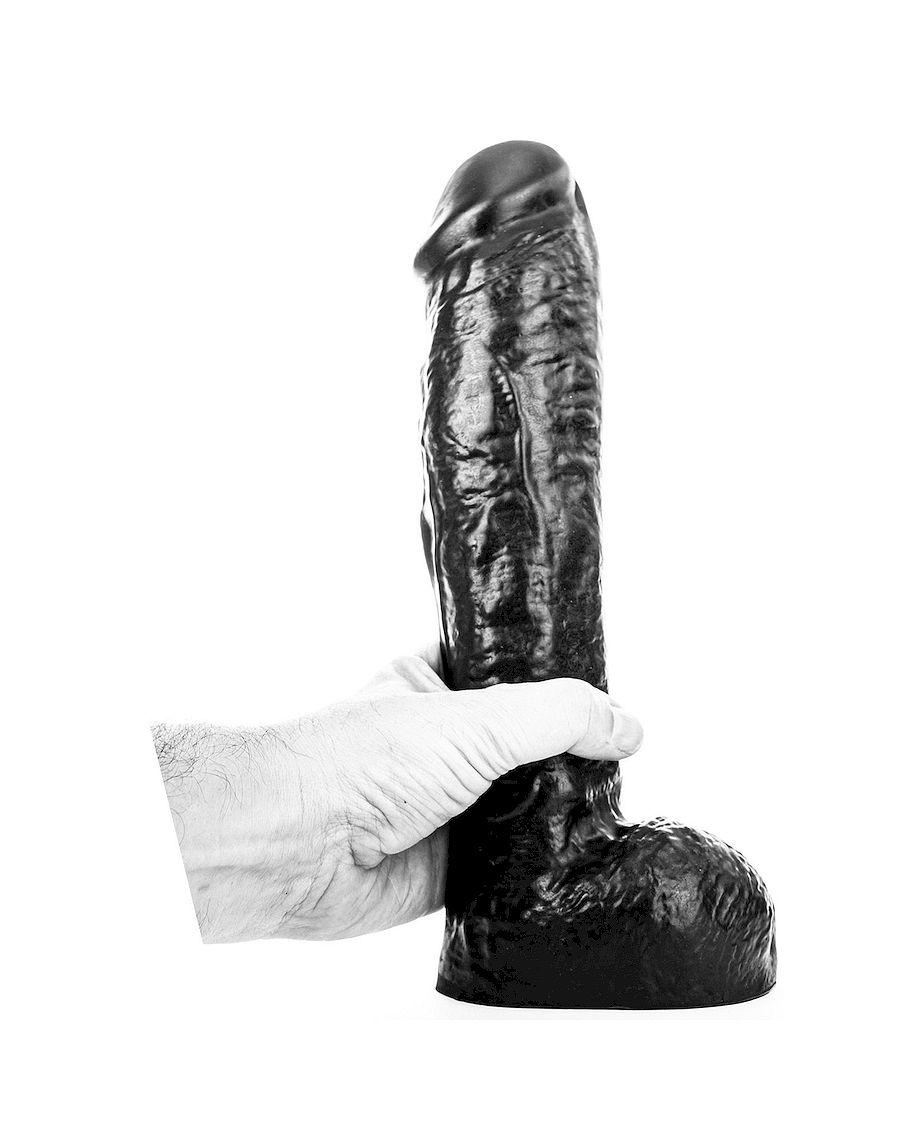 All Black Dong 29cm Black Huge Dildo
