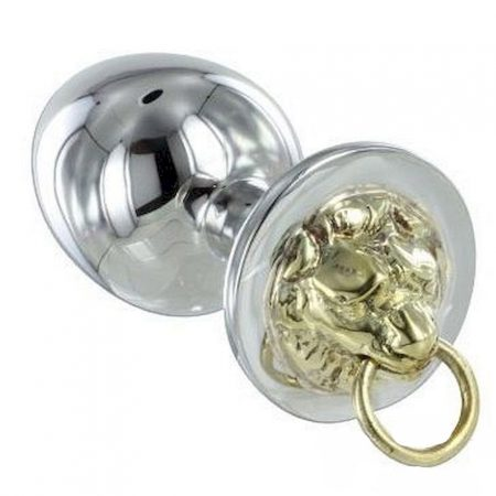 Metal Hard Anal Plug Stainless Tiger