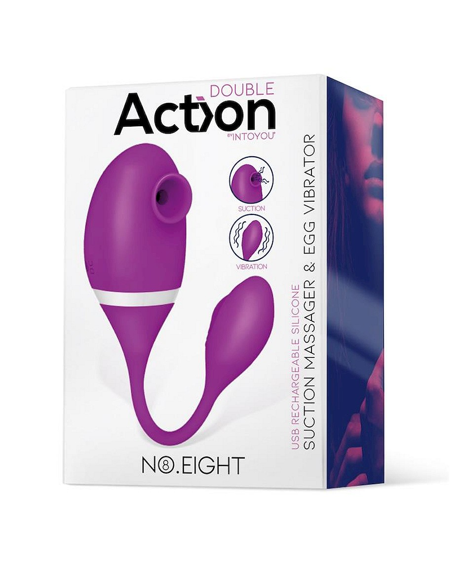 Action No Eight Suction Massager and Egg Vibrator