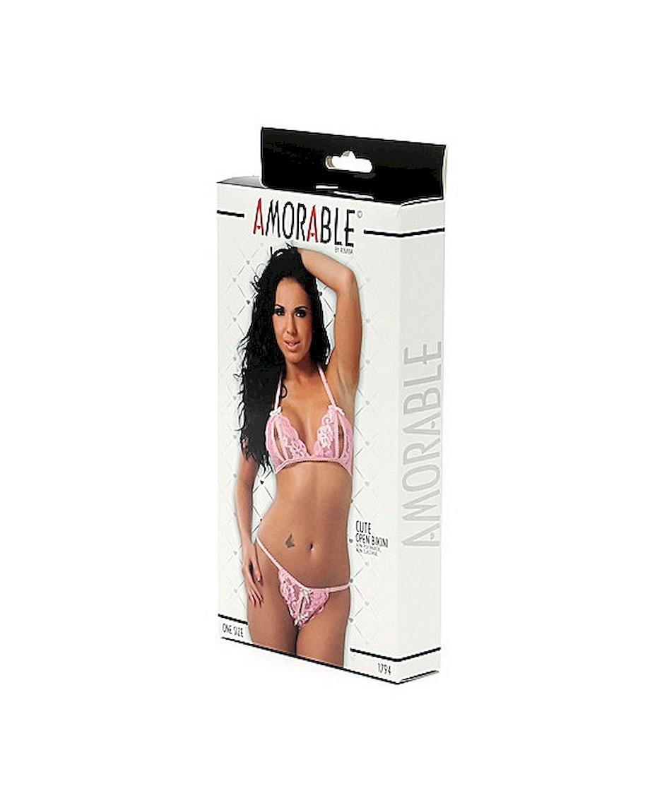 Amorable Open Bikini Pink OS