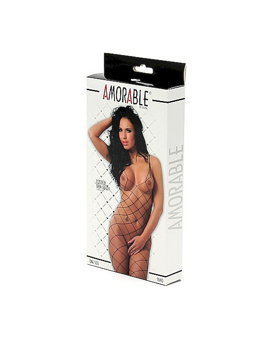 Amorable Open Catsuit Black OS