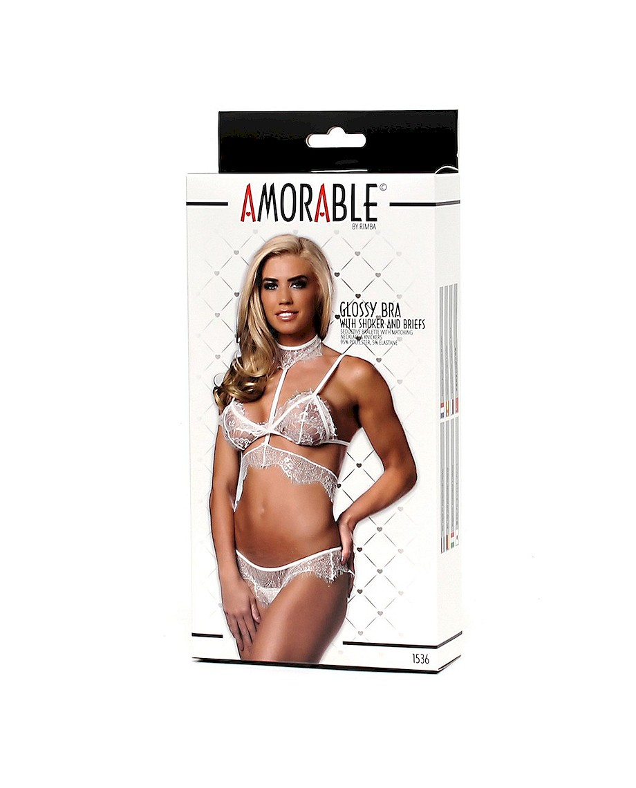 Amorable Set Bralette and Panties White