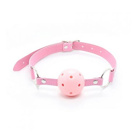 Fetish Addict Ball Gag Breathable Adjustable Ball 4,5 cm Pink