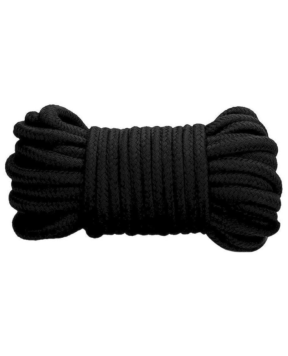 Fetish Addict Bondage Cotton Rope 10 Meter Blk