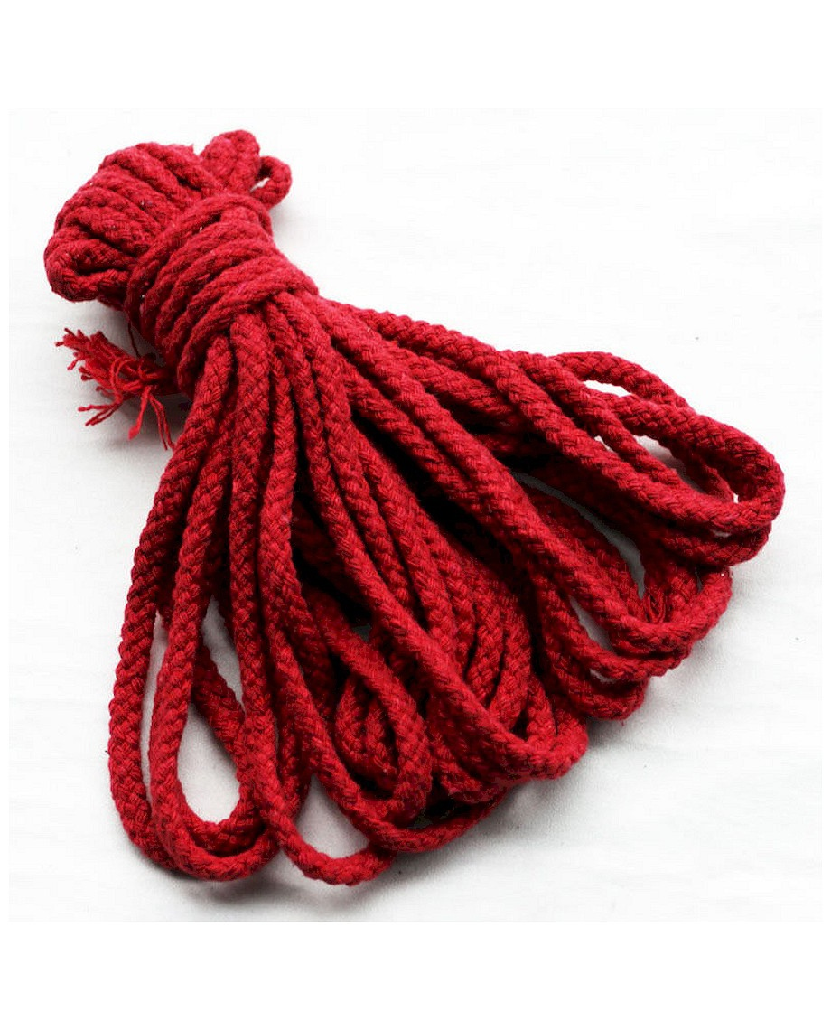Fetish Addict Bondage Cotton Rope 10 Meter Red