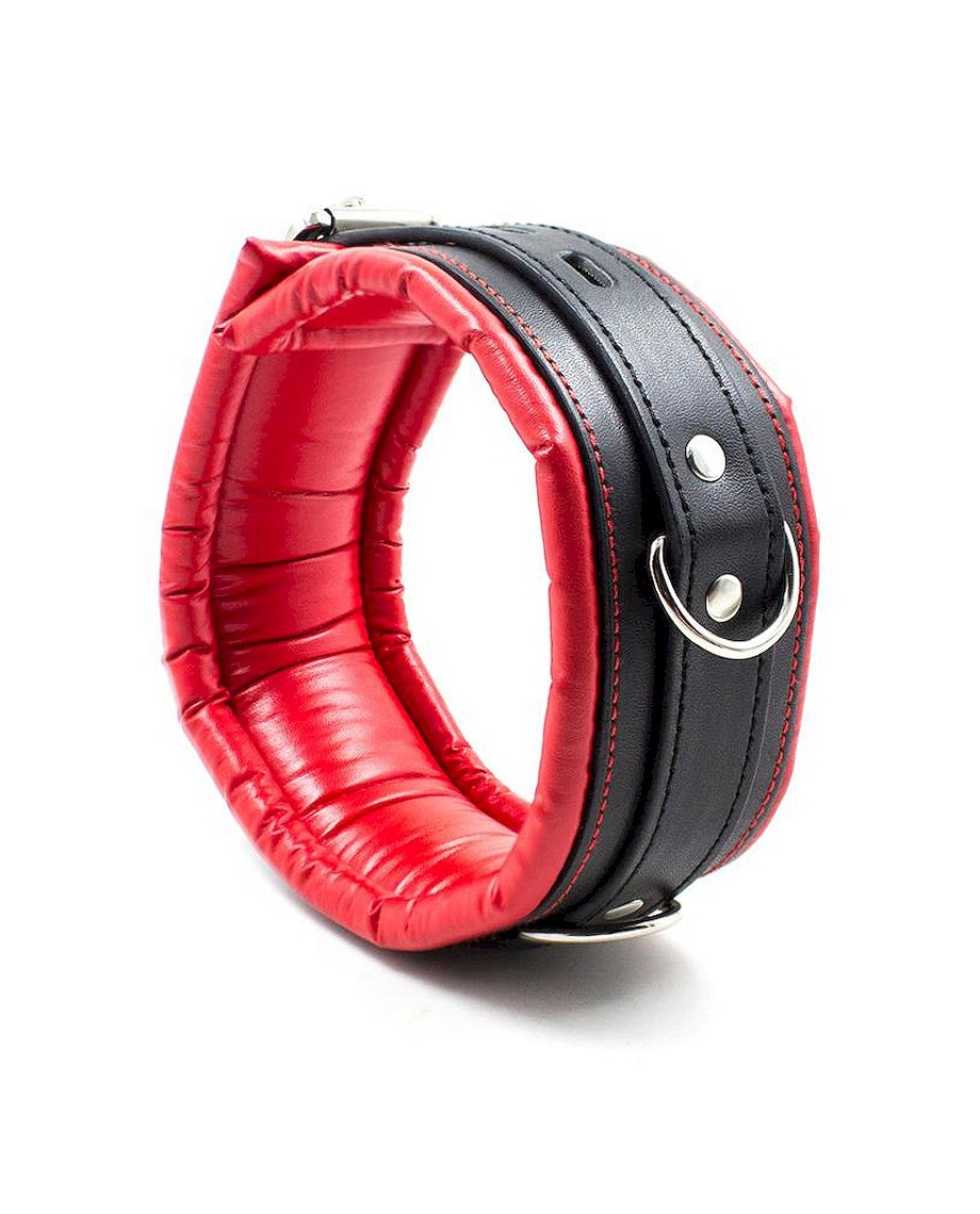 Fetish Addict Collar with Leash Red Black