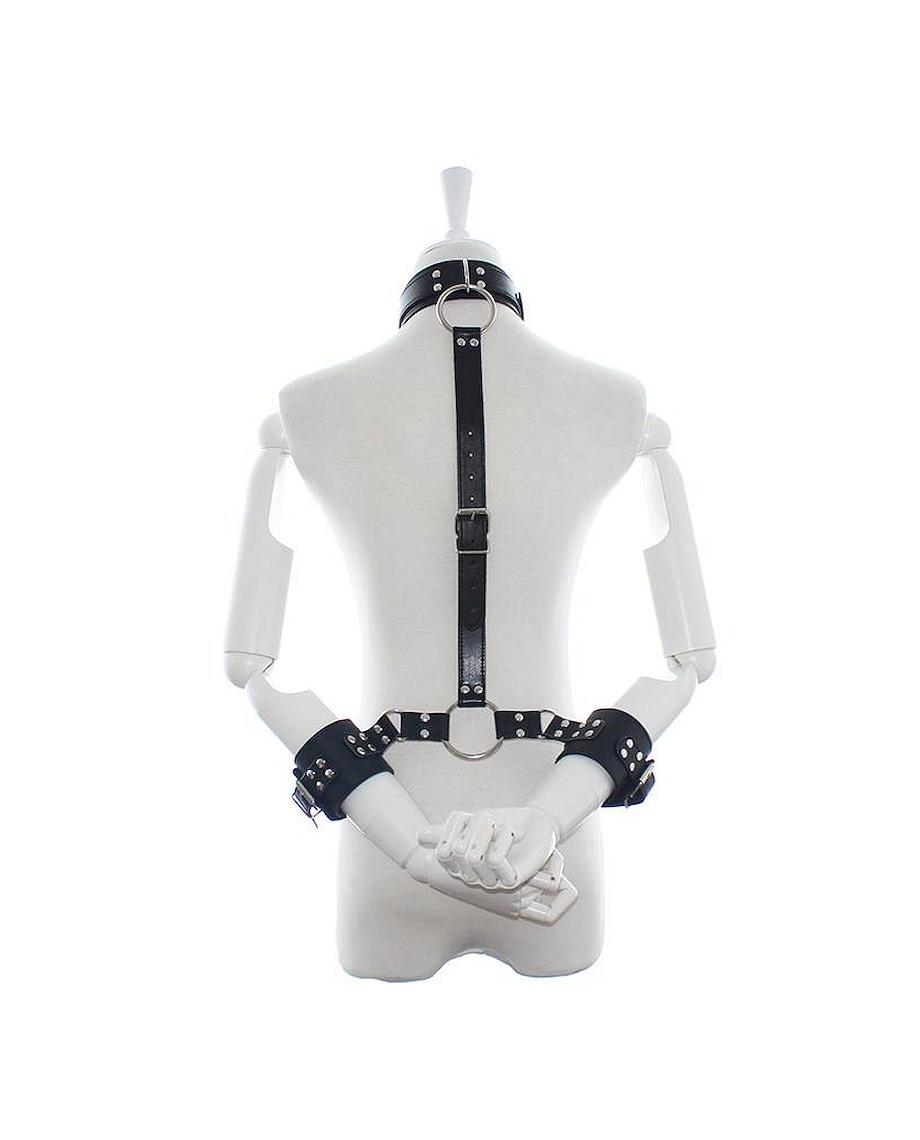 Fetish Addict Collar with Restraints Adjustable