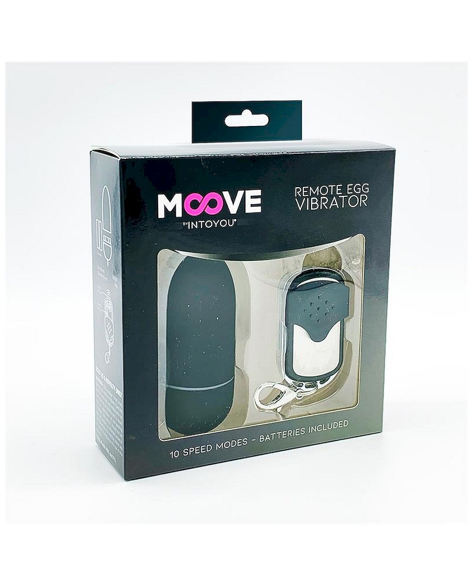 Moove Vibrating Egg with Remote Control Black