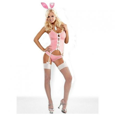 Obsessive Bunny Suit Costume 4 Pieces
