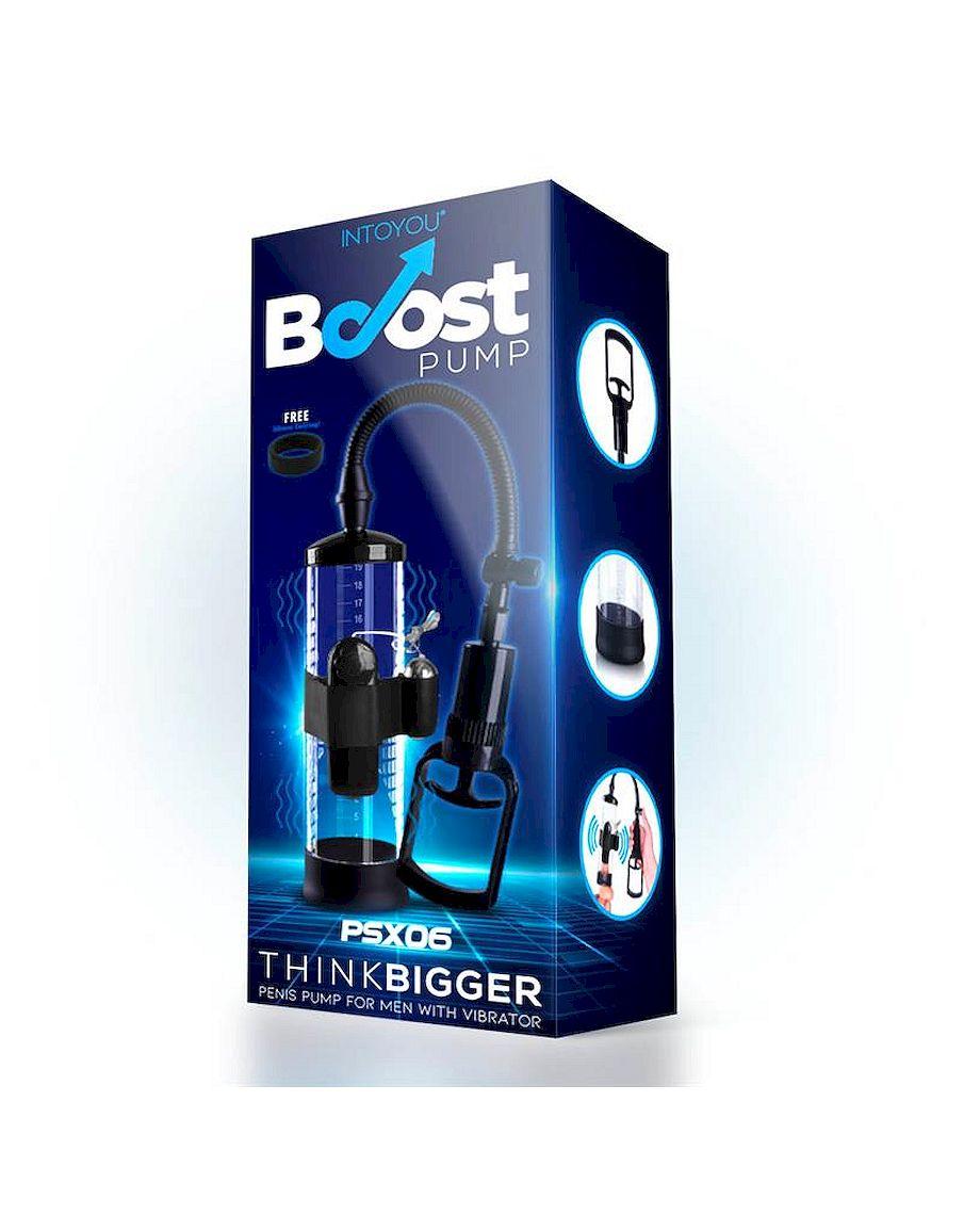 Boost Pumps Manual Penis Pump with Vibration Attachment PSX06