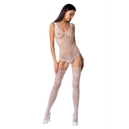 PASSION Woman BS074 Bodystocking White OS