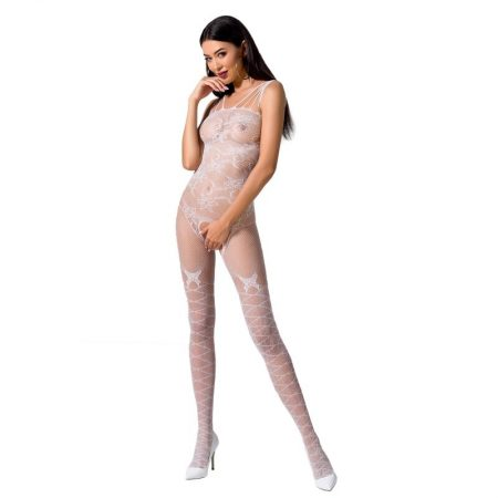 PASSION Woman BS076 Bodystocking White OS