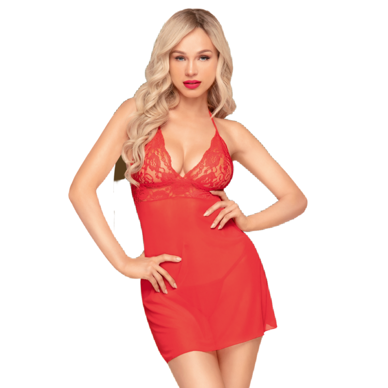 Penthouse BEDTIME STORY Chemise Red SM