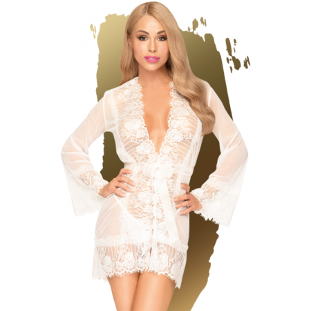Penthouse HYPNOTIC POWER Babydoll White L XL