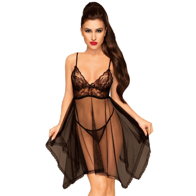 Penthouse NAUGHTY DOLL Babydoll Black L XL