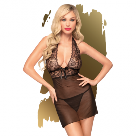 Penthouse SWEET SPICY Chemise Black SM