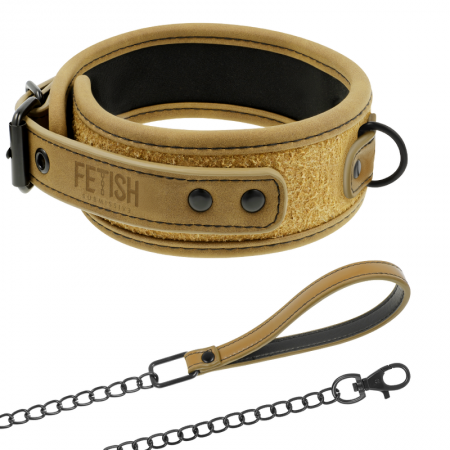Fetish Submissive Origin Collar with Leash