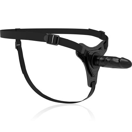 Fetish Submissive Silicone Strap-On Black 16cm Realistic