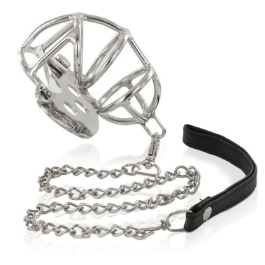 Metal Hard Chastity Ring with Metal Strap