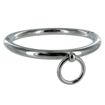 Metalhard BDSM Collar with Ring 18cm